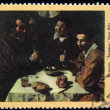 "USSR - CIRCA 1972: A stamp printed in the USSR shows The state Hermitage Leningrad Velasquez ""Breakfast"", circa 1972 — Stock Photo"