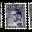 CEYLON - CIRCA 1964: A stamp printed in Ceylon (present time Sri Lanka) shows Dudley Shelton Senanayake Prime Minister of Ceylon, circa 1964 — Stock Photo
