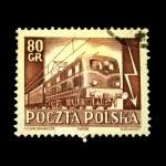 POLAND - CIRCA 1978: A stamp printed in Poland shows locomotive, circa 1978. — Stock Photo