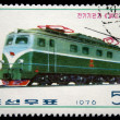 DPR KOREA - CIRCA 1976: A stamp printed by DPR KOREA (North Korea) shows electric locomotive, series, circa 1976 - Stock Photo