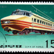 DPR KOREA - CIRCA 1976: A stamp printed by DPR KOREA (North Korea) shows electric locomotive, circa 1976 - Stock Photo