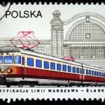 POLAND - CIRCA 1978: A stamp printed in Poland shows electric locomotive, circa 1978 — Stock Photo