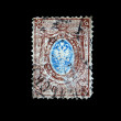 BELGIUM - CIRCA 1895: A stamp printed in Belgium shows Belgian coat of arms, circa 1895 — Stock Photo