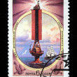 USSR - CIRCA 1982: A stamp printed in the USSR shows Estuary Dneprovsky - the Beacon of the western coast, circa 1982 — 图库照片
