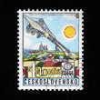 Постер, плакат: CZECHOSLOVAKIA CIRCA 1978: A stamp printed in Czechoslovakia shows airship Graf Zeppelin LZ 127 circa 1978