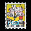 CZECHOSLOVAKIA - CIRCA 1978: A stamp printed in Czechoslovakia shows airship Graf Zeppelin LZ-127, circa 1978 — Stock Photo