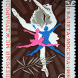 USSR - CIRCA 1969: A stamp printed in the USSR honoring First International Ballet Competition - Moscow, circa 1969 — Stock Photo #12165099