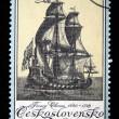CZECHOSLOVAKIA - CIRCA 1976: A stamp printed in Czechoslovakia shows sailing ship, circa 1976 — Stock Photo