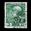 AUSTRIA - CIRCA 1908: Austrian postage stamp showing Franz Joseph I of Austria, circa 1908 — Stock Photo