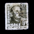 SPAIN - CIRCA 1948: A stamp printed in Spain shows General Franco, circa 1948 — 图库照片