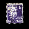 GERMANY - CIRCA 1960s: A stamp printed in Germany shows commemorating poet Gerhart Hauptmann, circa 1960s — Stock Photo