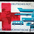 Stock Photo: DDR - CIRC1970s: stamp prunted in DDR (East Germany) devoted to GermRed Cross, circ1970s