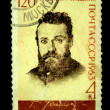 Постер, плакат: USSR CIRCA 1963: stamp printed in USSR Russia shows portrait of Uspensky Russian Writers and Poets with the inscription and name of series 120th Birth Anniversary of G I Uspensky