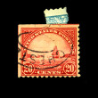Royalty-Free Stock Photo: USA - CIRCA 1900s: A stamp printed in USA shows Golden Gate in San Fracisco, circa 1900s