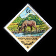 GUINEA - CIRCA 1975: A stamp printed in Guinea shows Greater Kudu - Tragelaphus strepsiceros, circa 1975 — Stock Photo