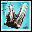 DDR - CIRCA 1985: A stamp printed in DDR (East Germany) shows semiprecious stone Gyps, circa 1985 — Stok fotoğraf