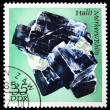 DDR - CIRCA 1985: A stamp printed in DDR (East Germany) shows semiprecious stone Halit, circa 1985 — Stok fotoğraf