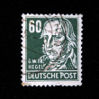 GERMANY - CIRCA 1940s-1950s: A stamp printed in Germany shows Georg Wilhelm Friedrich Hegel, circa 1940s-1950s - Stock Photo