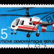GDR - CIRCA 1969: A stamp printed in GDR (East Germany) shows Helicopter Mi-8, circa 1969 - Stock Photo