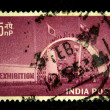 INDIA - CIRCA 1958: A stamp printed in India shows honoring exhibition India 1958, circa 1958 — Stock Photo