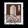 HUNGARY - CIRCA 1970s: A stamp printed in Hungary shows Hotel Budapest, circa 1970s — Stock Photo