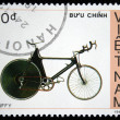 Stock Photo: VIETNAM - CIRC1988: stamp printed by Vietnam shows bicycle Huffy, circ1988