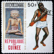 GUINEA-BISSAU - CIRCA 1968: A stamp printed in Guinea-Bissau shows , series devoted Olympic games in Mexico, circa 1968 — Stock Photo