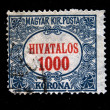 Stock Photo: HUNGARY - CIRC1900s: Hungaripostage stamp with number 1000 in center, circ1900s