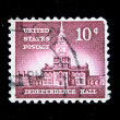 UNITED STATES OF AMERICA - CIRCA 1954: A stamp printed in USA shows Independence Hall, circa 1954 — Stock Photo