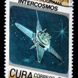 CUBA - CIRCA 1987: A Stamp printed in Cuba shows Satilite, circa 1987 - Stock Photo