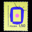 POLAND - CIRCA 1978: A stamp printed in the Poland devoted international biennial of the poster, Warsaw, circa 1978 — Stock Photo