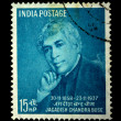 INDIA - CIRCA 1958: A Stamp printed in India shows Jagadish Chandra Bose, circa 1958 - Stock Photo