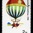 POLAND - CIRCA 1981: Balloon Flown by J. Blanchard, J. Jeffries, 1875, circa 1981 - Stock Photo