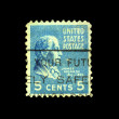 Royalty-Free Stock Photo: UNITED STATES OF AMERICA - CIRCA 1932: A stamp printed in the USA shows image of President James Monroe, circa 1932