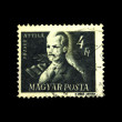 Stock Photo: HUNGARY - CIRC1952: stamp printed in Hungary shows Jozsef Attila, circ1952