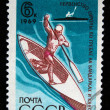USSR - CIRCA 1969: A stamp printed in the USSR shows kayaking, circa 1969 — Stock Photo