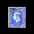 UK - CIRCA 1949: A stamp printed in United Kingdom shows King George VI, circa 1949 — Stock Photo