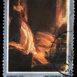 USSR - CIRCA 1980: A stamp printed in the USSR shows draw by artist Konstantin Flavitsky - Princess Tarakanova in the Peter and Paul Fortress at the Time of the Flood, circa 1980 — Stock Photo #12168022