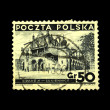 POLAND - CIRCA 1938: A stamp printed in Poland shows view of Krakow, circa 1938 — Stock Photo