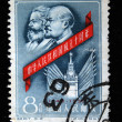 CHINA - CIRCA 1959: A stamp printed in China shows Marx and Lenin, circa 1959 — Stock Photo