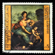 "BULGARIA - CIRCA 1980: Stamp printed in Bulgaria shows Leonardo da Vinci ""Saint Anne"", circa 1980 — Stock Photo"