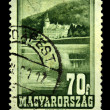 HUNGARY - CIRCA 1951: A Stamp printed in Hungary shows Lillafured, circa 1951 - 图库照片