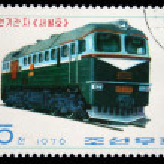 DPR KOREA - CIRCA 1976: A stamp printed by DPR KOREA (North Korea) shows locomotive, series, circa 1976 — Stock Photo