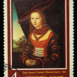 "Stock Photo: USSR - CIRC1987: Stamp printed in USSR shows Lucas Cranach Elder ""Womportrait"", circ1987"