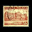 POLAND - CIRCA 1938: A stamp printed in Poland shows view of Lviv - University, circa 1938 — Stock Photo
