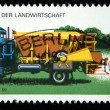 DDR - CIRCA 1975: A stamp printed in DDR (former East Germany) shows Machine fertilizer LKW W 50, circa 1975 - Stock Photo