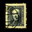 POLAND - CIRCA 1930: A stamp printed in Poland shows Jozef Klemens Pilsudski, circa 1930 - 图库照片