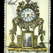 CZECHOSLOVAKI- CIRC1979: stamp printed in Czechoslovakishows mantel clock, circ1979 — Stock Photo #12168240