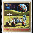 BURUNDI - CIRCA 1972: A stamp printed in Burundi shows American Moon expedition, series, circa 1972 — Stock Photo