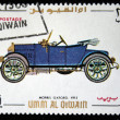 Stock Photo: UMM AL QIWAIN - CIRC1968: stamp printed in one of emirates in United Arab Emirates shows vintage car Morris Oxford - 1913 year, full series - 48 of stamps, circ1968